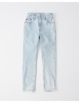 Double Waist High Rise Mom Jeans by Abercrombie & Fitch