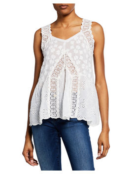 Harper Eyelet Tank by Johnny Was