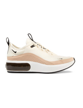 Air Max Dia Leather Trimmed Mesh Sneakers by Nike