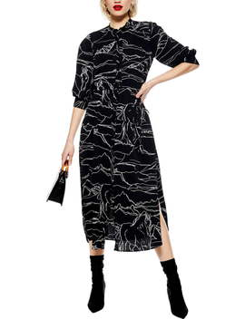 Horse Print Midi Dress by Topshop
