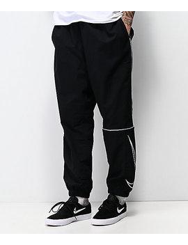 Nike Sb Swoosh Black Track Pants by Nike Sb