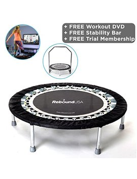 Ma Ximus Pro Gym Rebounder Mini Trampoline With Handle Bar. Package Includes Great Compilation Rebound Dvd, 3 Months Free Video Membership! 150kg User Weight. by Mxl Ma Ximus Life