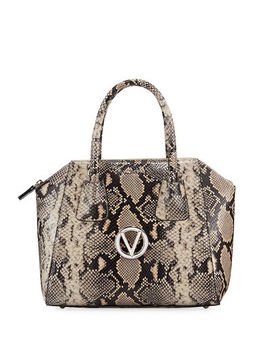 Minimi Medium Python Print Satchel Bag by Valentino By Mario Valentino