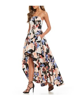 Floral Print Long High Low Dress by Xtraordinary