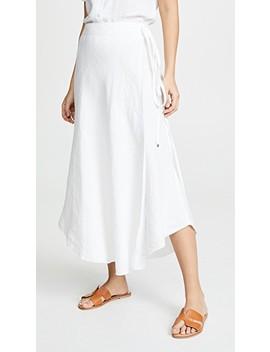 Linen Wrap Skirt by Three Dots