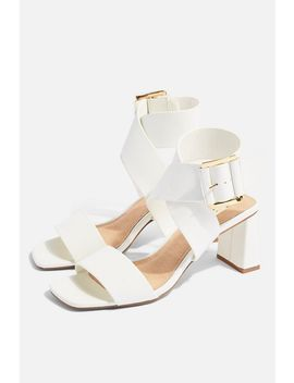 Natalia White Buckle Sandals by Topshop
