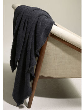 Exclusive / Raw Edge Boiled Cashmere Blanket by Vince