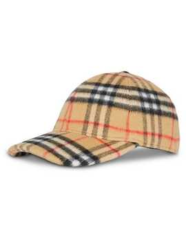 Vintage Check Wool Baseball Cap by Burberry