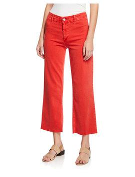 Paige Nellie Clean Front Culotte Pants by Paige