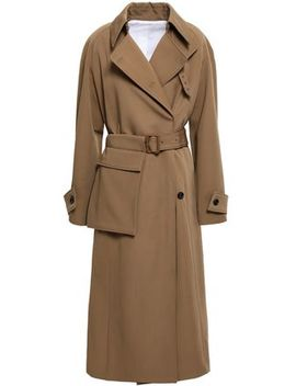 Double Breasted Virgin Wool Gabardine Trench Coat by Joseph