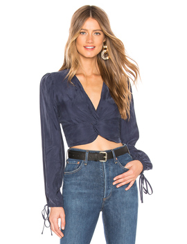 knot-front-long-sleeve-crop-top by joa