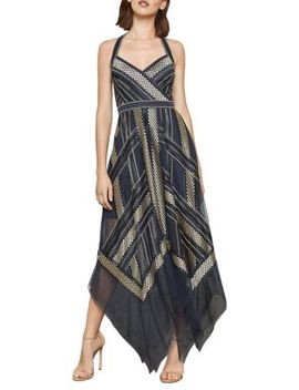 Metallic Striped Handkerchief Dress by Bcbgmaxazria