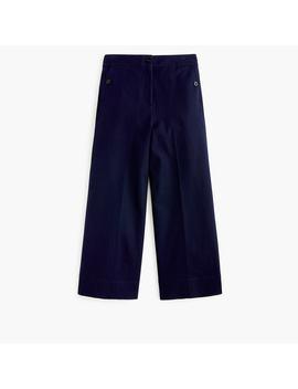 Wide Leg Pant In Bi Stretch Cotton by J.Crew