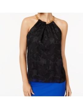 Thalia Sodi Floral Print Chain Top Black XxlNwt by Thalia Sodi