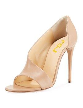 Fsj Women Sexy Stiletto High Heels Pumps Open Toe Sandals D'orsay Party Prom Shoes Size 4 15 Us by Fsj