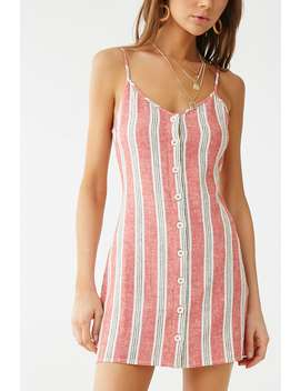 Linen Blend Striped Cami Dress by Forever 21