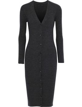 Annika Ribbed Wool Blend Cardigan by Alice + Olivia