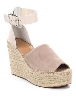 Big Spender Leather Band Espadrille Wedge by Gb