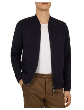 Livid Bomber Jacket With Woven Panels by Ted Baker