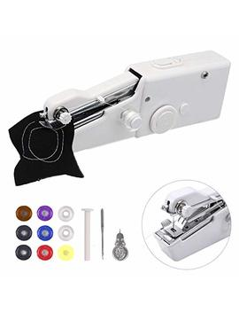 Portable Sewing Machine,Handheld Sewing Machine , Msdada Mini Sewing Machine For Home Travel Stitching ,Quick Repairs,Fabric Sewing,Diy,Best Birthday Gift For Kids &Adult(With 9 Pcs Bobbins) by Msdada