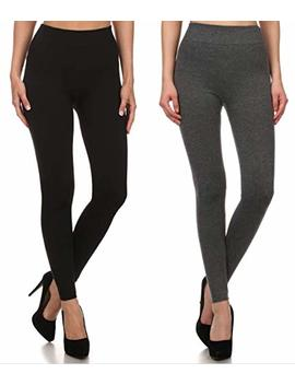 Sho Sho Women's Thick Cotton Terry Seamless Slimming Leggings (Plus by Sho Sho
