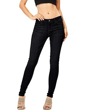 Celebrity Pink Women's Juniors Mid Waist Stretchy Denim Skinnys by Celebrity Pink