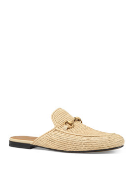 Straw Princetown Slipper by Gucci