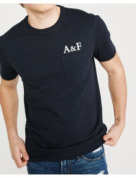 Heavyweight Print Logo Tee by Abercrombie & Fitch
