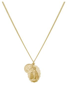 "Mini Saints Pendant Necklace In 18 K Gold Plated Sterling Silver, 18"" by Miansai"