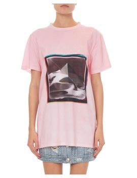 Short Sleeve Pyramid Logo Graphic T Shirt by Balmain