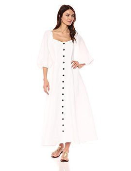 Mara Hoffman Women's Mika Button Up Three Quarter Sleeve Midi Dress by Mara Hoffman