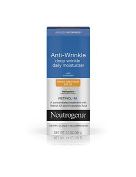 Neutrogena Ageless Intensives Anti Wrinkle Cream   Facial Moisturizer With Spf 20 Sunscreen, Retinol And Hyaluronic Acid To Fight Signs Of Aging, Retinol, Hyaluronic Acid, Glycerin 1.4 Oz by Neutrogena
