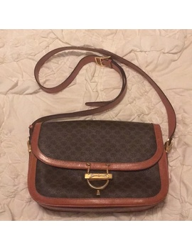 Vintage Celine Macadam Crossbody Bag by Celine