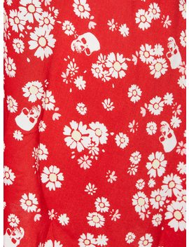 Red Daisy & Skulls Retro Dress by Hot Topic