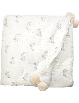 Pehr Tiny Bunny Quilted Pom Pom Blanket by Pehr
