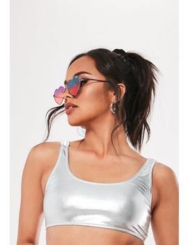 Quay Australia Heart Breaker Purple Sunglasses by Missguided