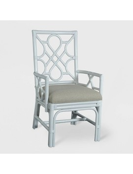 Lillian Rattan Dining Chair White   East At Main by East At Main