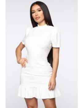 Innocence Is Bliss Mini Dress   White by Fashion Nova