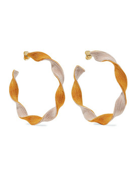 Penelope Cord Hoop Earrings by Rebecca De Ravenel