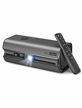 "Hibeam Portable Movie Projector | Dlp Home Theater Led Mini Projector With 120"" Hd Picture, 150 Ansi Lumens 