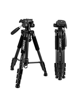 "Zomei 55"" Compact Light Weight Travel Portable Folding Slr Camera Tripod For Canon Nikon Sony Dslr Camera With Carry Case(Black) by Zom Ei"