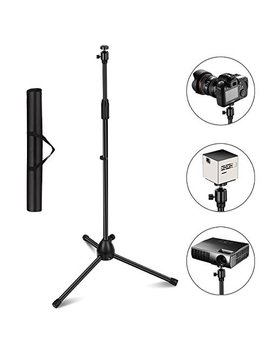 "Projector Stand, Thustar Portable Tripod Stand Lightweight Adjustable Height 29.5"" To 55.1"" Floor Stand Holder 360°Swivel Ball Head For Projector, Small Camera, Webcam, Go Pro With Carry Bag by Xzc"