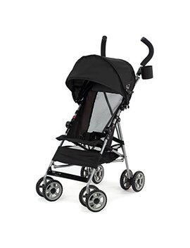 Kolcraft Cloud Umbrella Stroller, Black Travel Umbrella Stroller Comes With An Extended Sun Canopy And Rear Hood To Offer More Protection by Kolcraft