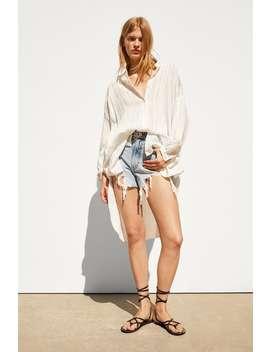 Camisa Com Efeito Enrugado  Camisastrf by Zara