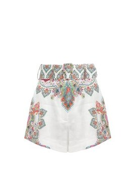 Ninety Six High Rise Cotton Shorts by Zimmermann
