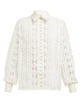 Moncur Cotton Blend Blouse by Zimmermann
