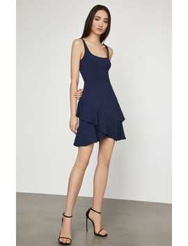 Sleeveless Asymmetrical Ruffle Dress by Bcbgmaxazria