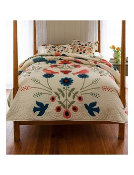 Ansley Folk Art Quilt Set, Full / Queen Size   Plow & Hearth by Plow & Hearth