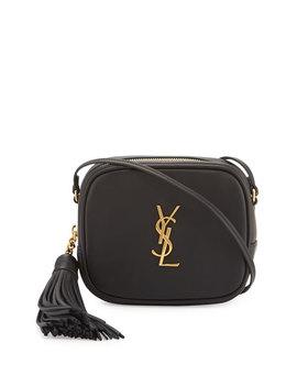 Monogram Ysl Blogger Crossbody Bag, Black by Saint Laurent