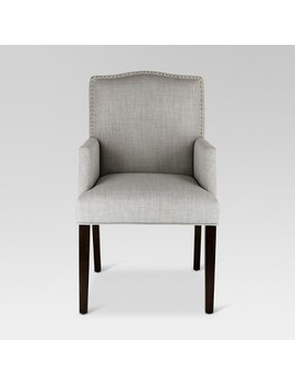 Camelot Nailhead Dining Captain Chair   Dove Gray   Threshold by Dove Gray